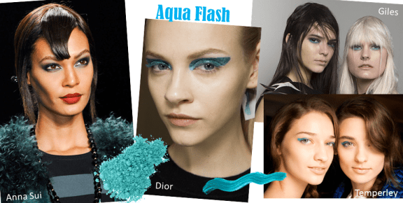 Autumn Winter Beauty Trends Round Up ♥ Aqua flash