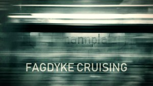bright parallel lines suggesting the view seen from a train. text reads FAGDYKE CRUISING.