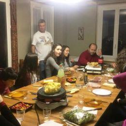 Weekend des 15/18 ans, 12/2016, repas au carmel