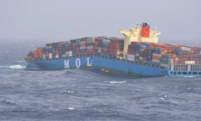 maritime-research - MOL Confort Accident Sector Maritime - Number of Containers Lost at Sea Falling 2008 to 2016