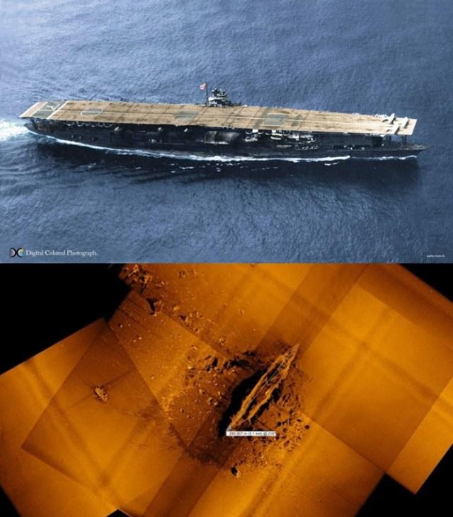 maritime-research, maritime-news - Japanese war ship Akagi wreck found vert - Second Japanese Aircraft Carrier Wreck Discovered