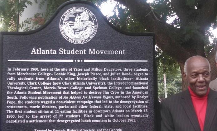 Mr. Lonnie King Dedication of Atlanta Student Movement marker