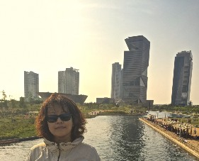 The author at Song-do Economic Free Zone near Seoul