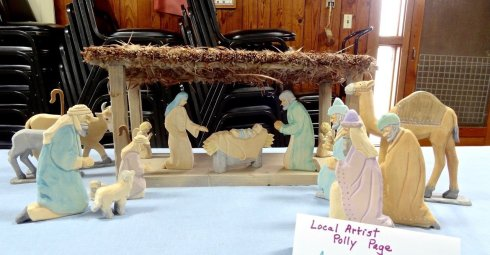 Pleasant Hill sculptor and doll maker, Polly Page created this nativity owned by Ann Schoup.