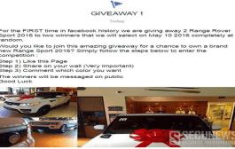 Deux scam sur Facebook vous promettent une voiture de luxe