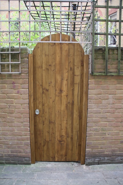 Adding an obstacle - a side security gate - to deter burglars