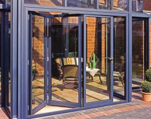 Security folding doors
