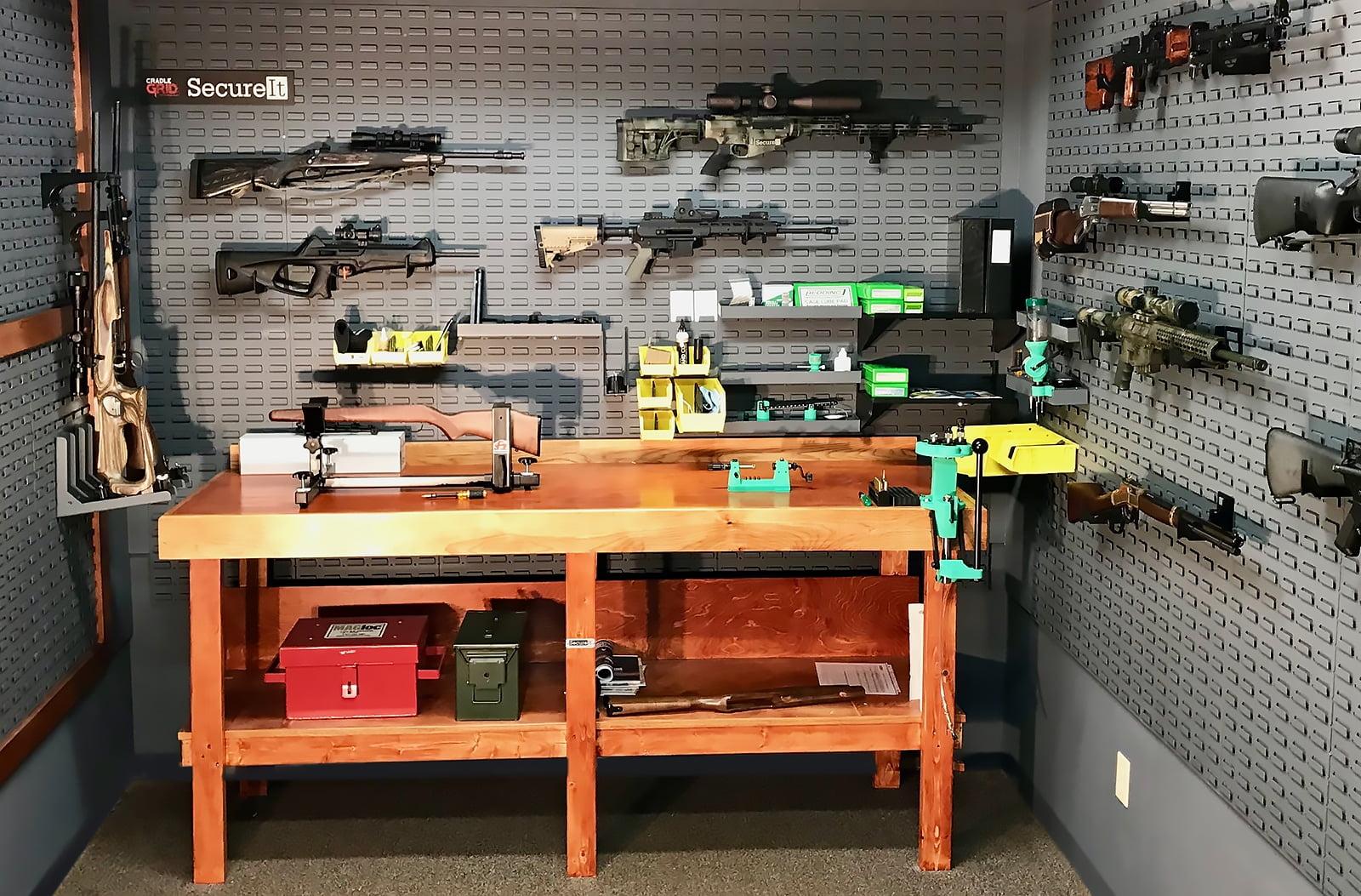 Gunroom Workbench Secureit Gun Storage