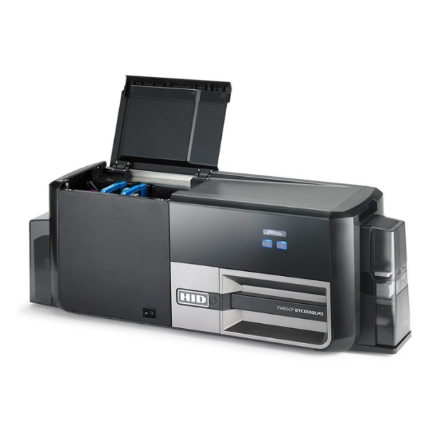 DTC5500LMX ID Card Printer and Laminator open