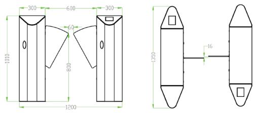 ZKTeco FBL4000 Flap Barrier Turnstile