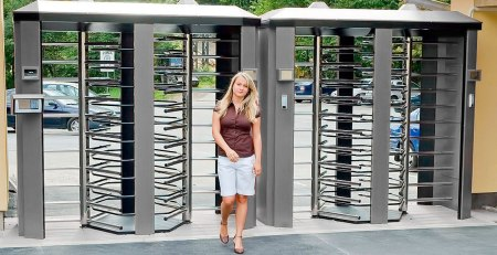 Security turnstiles at recreational centres