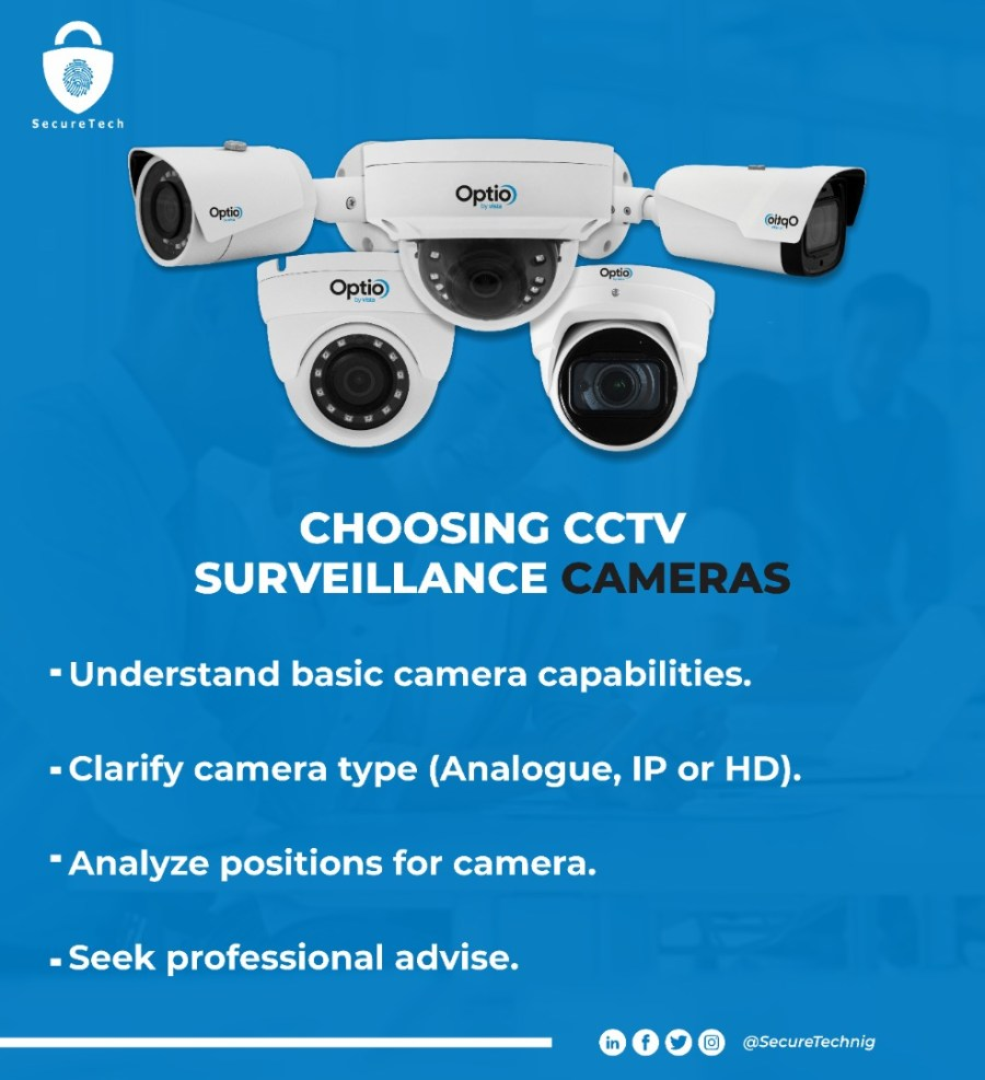 how to select cctv camera for homes and offices