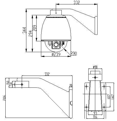 Securitex CCTV speed dome camera~HSD-7LW18