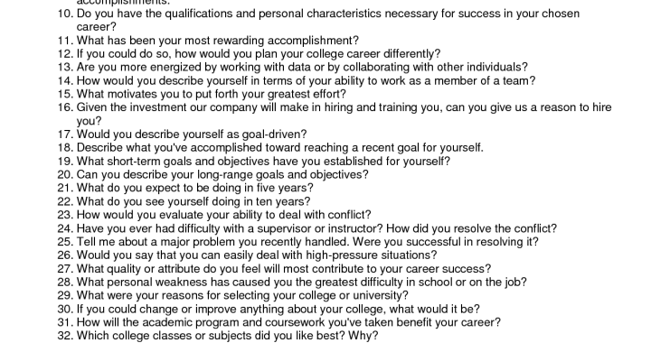 Personal Security Interview Questions