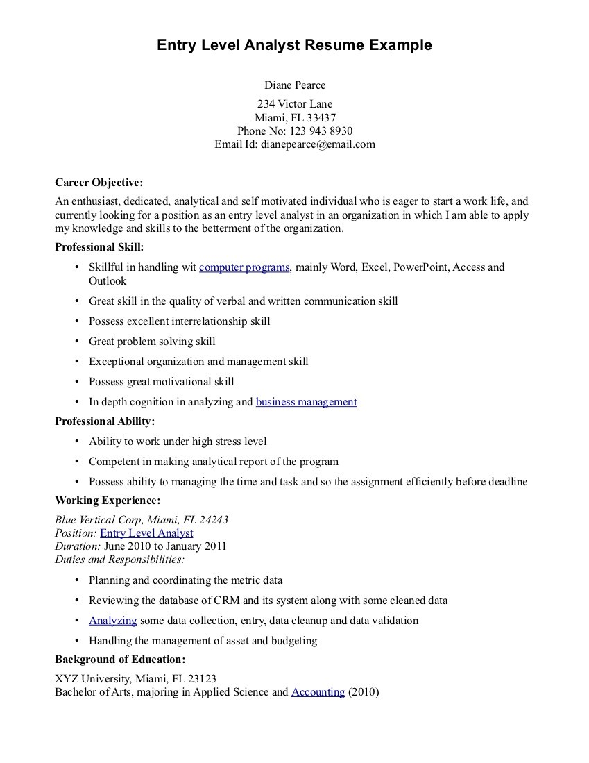 Sample Resume For Entry Level Firefighter Best Online