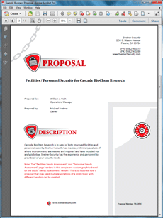 Security Service Proposal Template Security Guards Companies