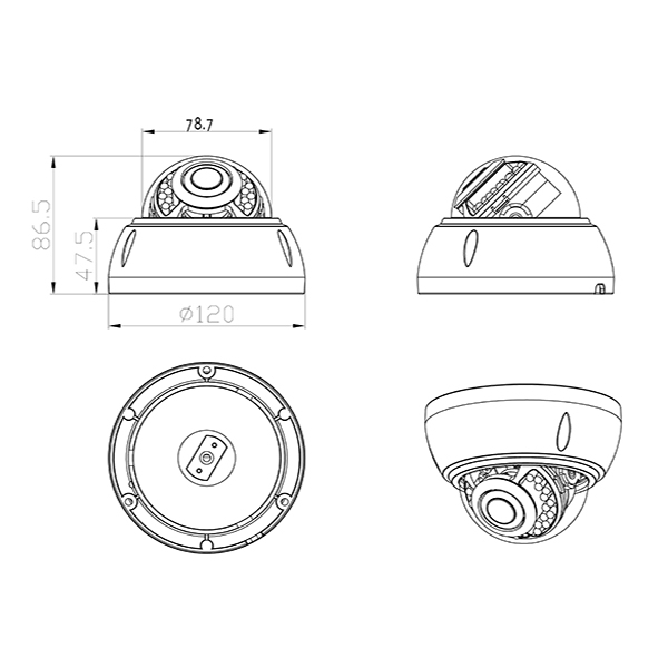 Lavetex 1080P High Definition H.265 Dome POE IP Camera