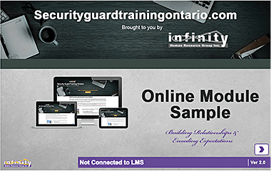 Ontario Security Guard Licence Online Training Provider