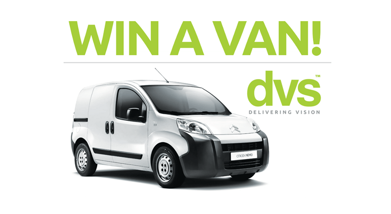 DVS Ltd are giving their customers the chance to win a van!