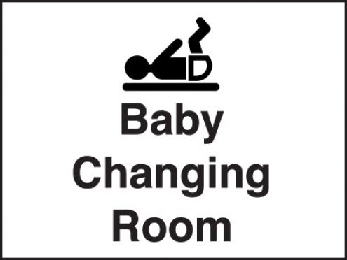 Baby Changing Room Sign 150x200mm Plastic : Safety Signs
