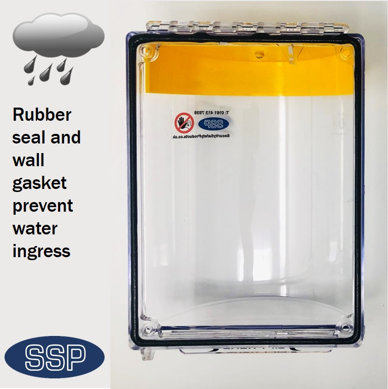 Break Seal Flush mounted emergency power switch cover
