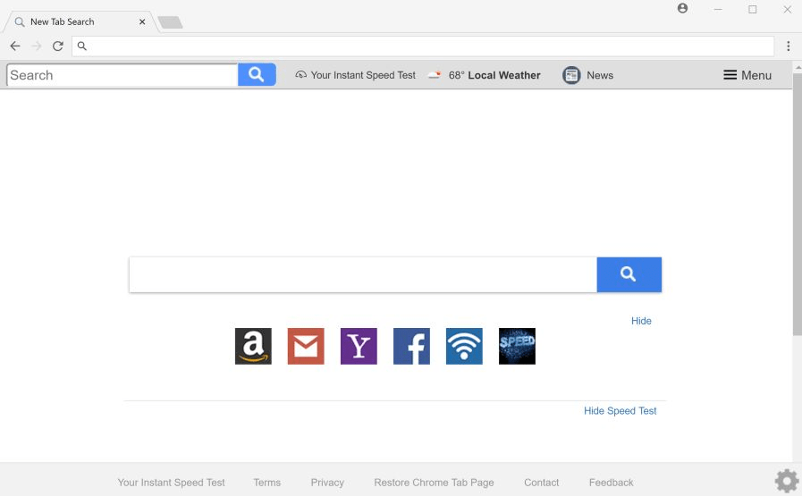 How to remove Search.yourinstantspeedtest.com from Google