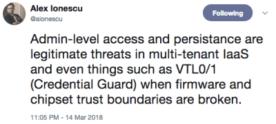 Alex Ionescu confirms vulnerabilities found by CTS in AMD processors