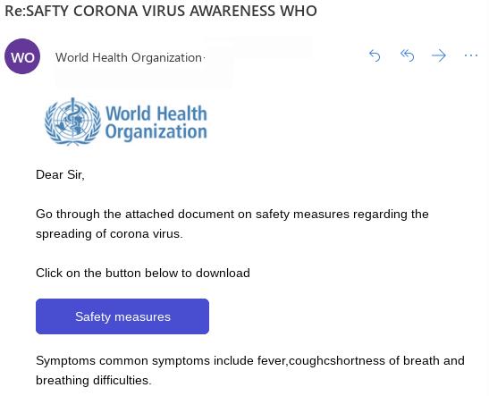 Fake WHO email leverages coronavirus outbreak
