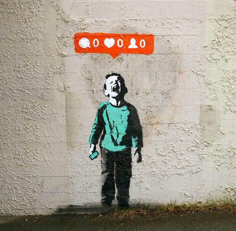 Redes sociais, critica social e Graffiti - A arte de iHeart