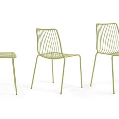 Steel Chair Specification Cheap White Chairs Nolita Pedrali In Metal Stackable With High Or