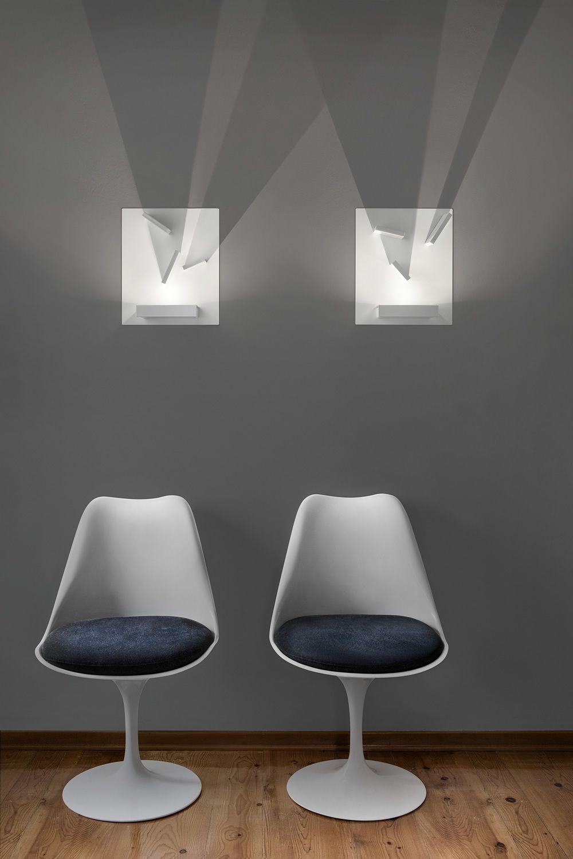Domino  Lampada a parete di design con elementi orientabili in metallo con luce LED  Sediarreda