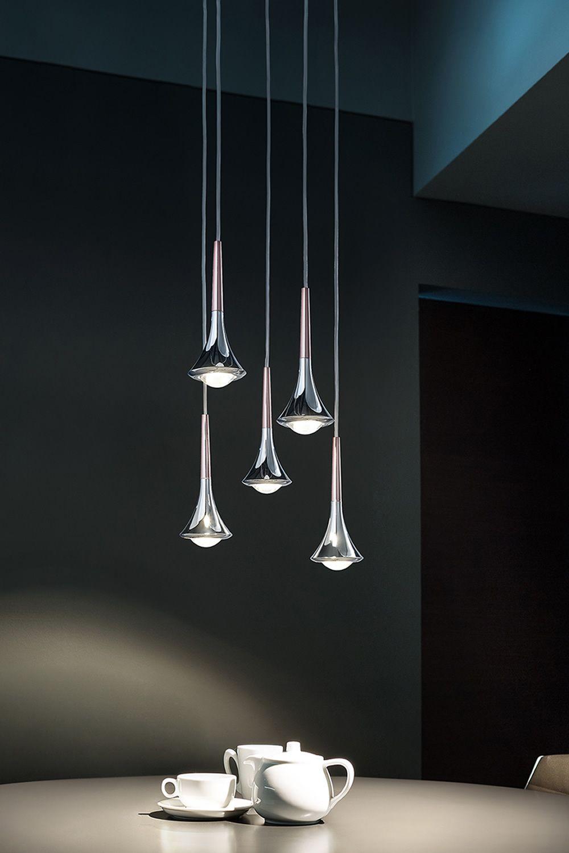 Rain  Lampada a sospensione di design in metallo LED disponibile in diversi colori  Sediarreda
