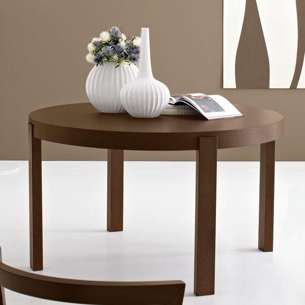 CB398RD Atelier  Tavolo allungabile Connubia  Calligaris in legno piano rotondo diametro 130