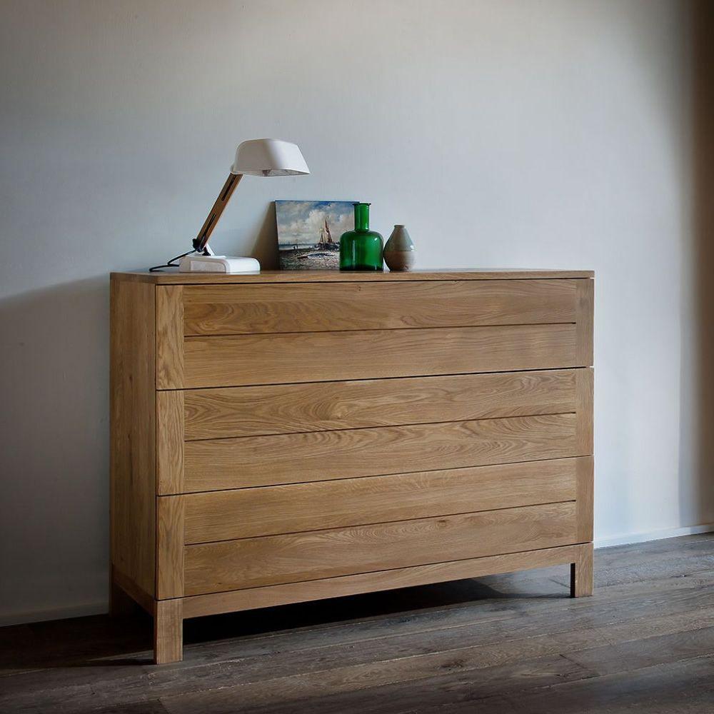 AzurD  Cassettiera Ethnicraft in legno con 3 cassetti