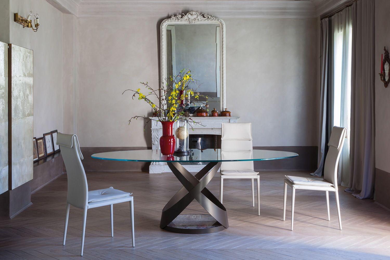 Capri 8069  Tavolo fisso Tonin Casa in metallo piano in