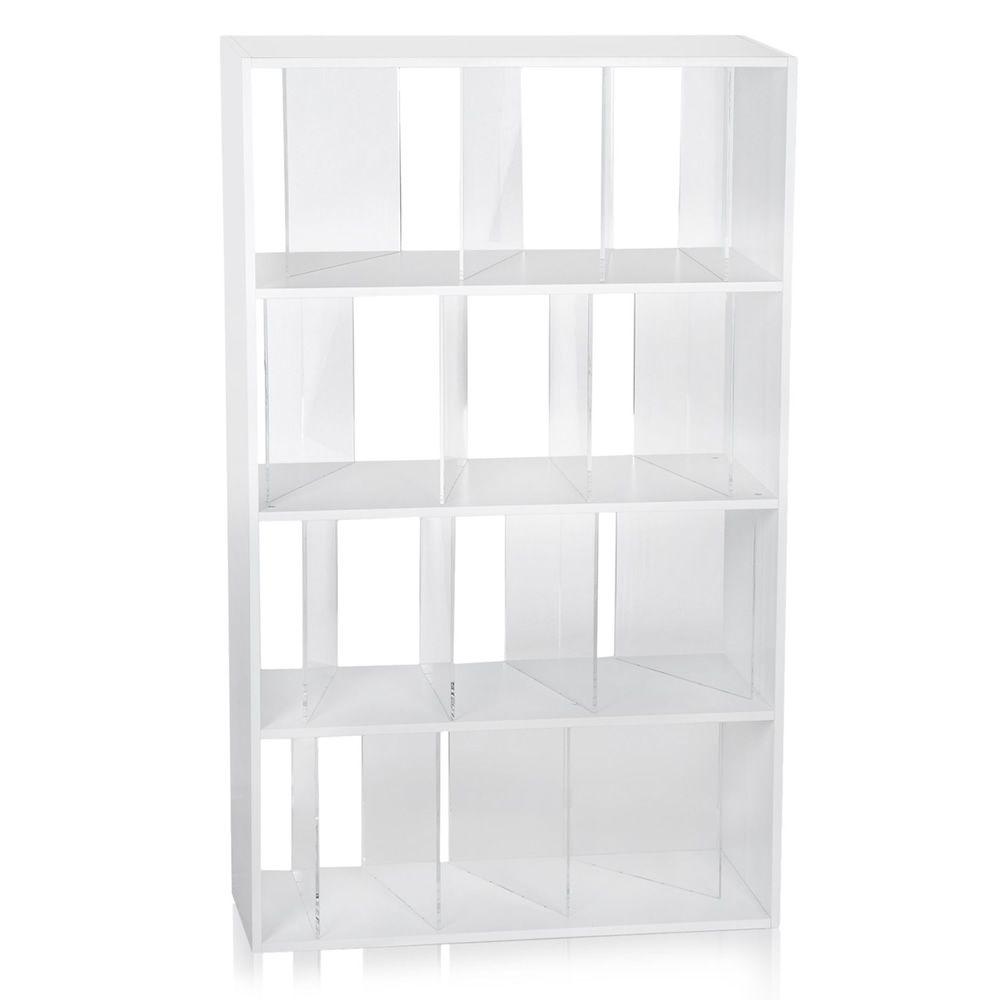 Sundial  Libreria a scaffali Kartell di design 4 ripiani e 16 divisori in legno e plastica