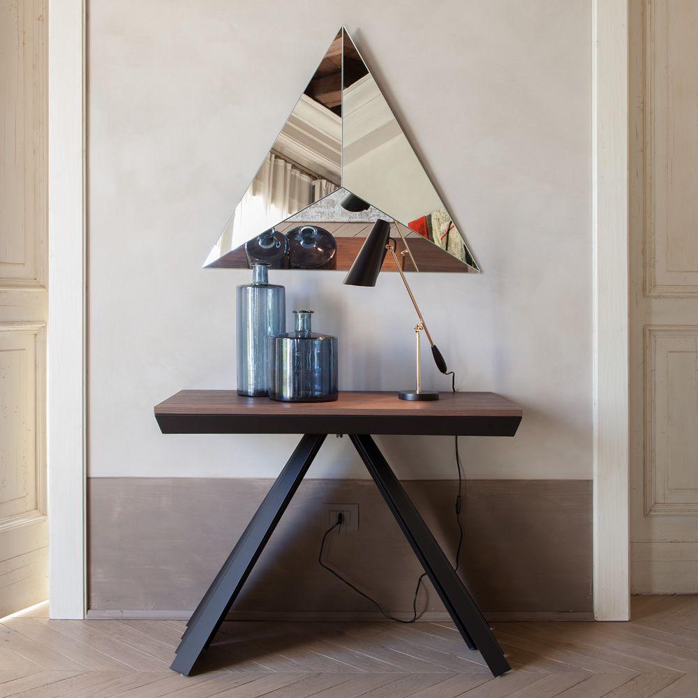 VentaglioC 6509  Tavolo  consolle allungabile Tonin Casa in metallo e melaminico diversi colori disponibili  Sediarreda