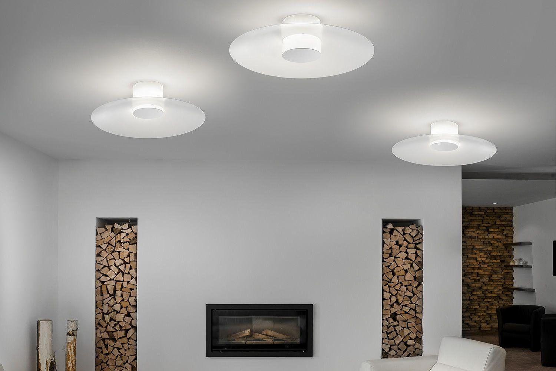 Thor  Lampada a soffitto o parete di design con paralume