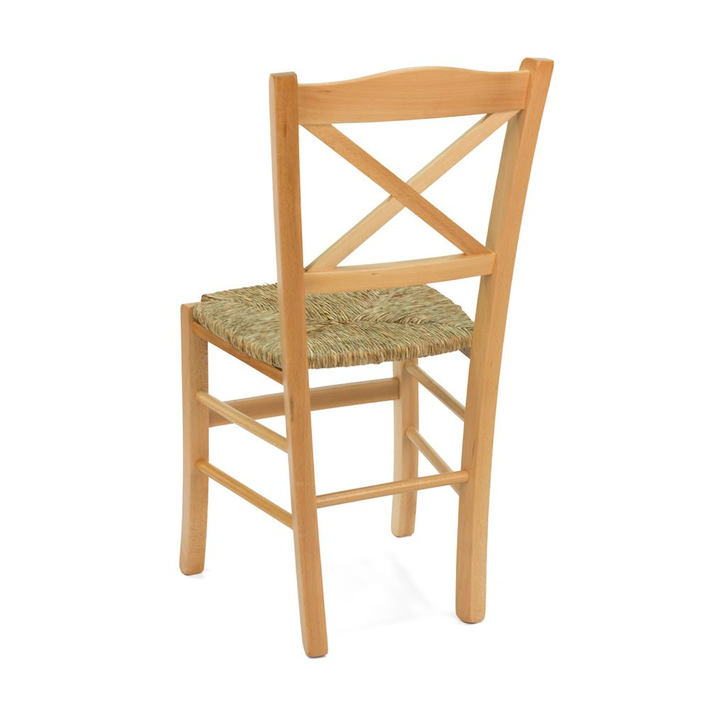 MU83 Country style chair in wood different dyes
