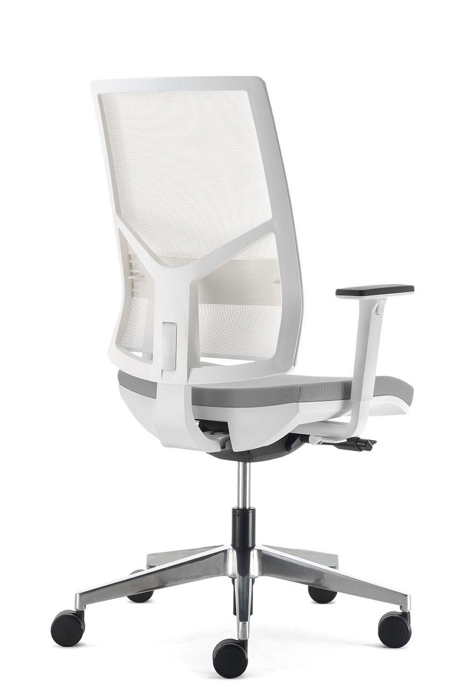 ML433 white  Silln ejecutivo de oficina con estructura