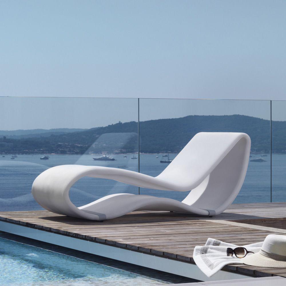 Breez 20 DesignSonnenliege aus Aluminium mit Stoffbezug