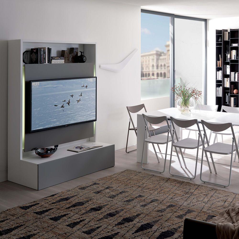 Smart living  Mobile soggiorno in legno con portatv