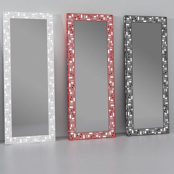 City C  Specchio con cornice luminosa in metallo LED in