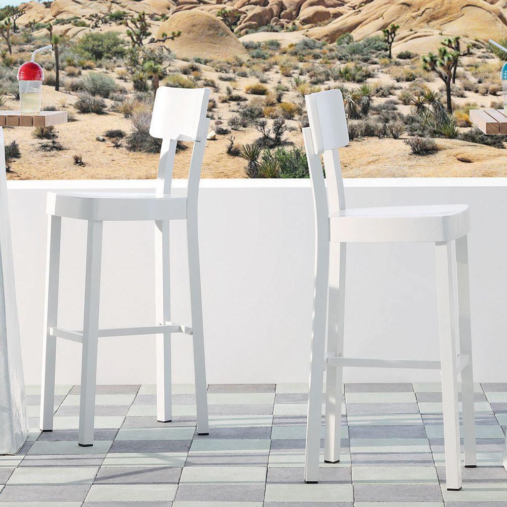 InOut 28 Sgabello Gervasoni in alluminio altezza seduta