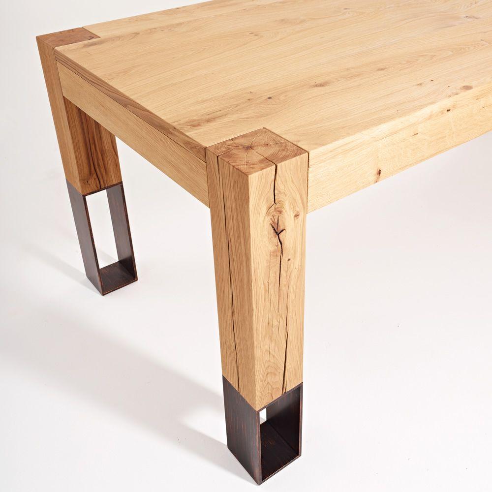 Acqua Alta  Tavolo in legno Colico Design con gambe in legno e metallo allungabile e