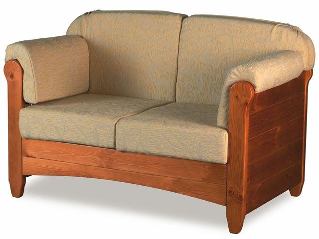 LAR8 Divano Sof rstico de madera con cojines