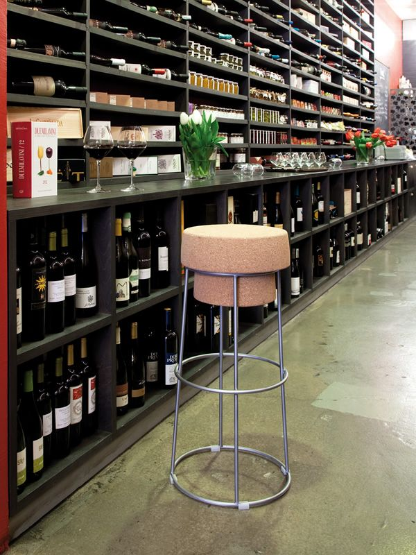 Bouchon Domitalia metal stool with cork seat height at