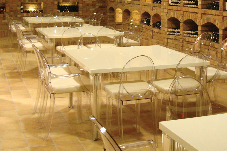 TopTop Table  Tavolo Kartell di design in metacrilato con piano laccato o in vetro bianco o