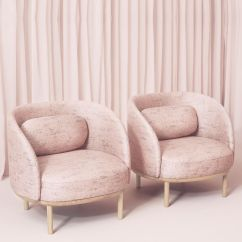 Feminine Executive Office Chairs Kid Beach Chair Fuuga P - Armchair With Wooden Legs, Covering In Fabric | Sediarreda.com