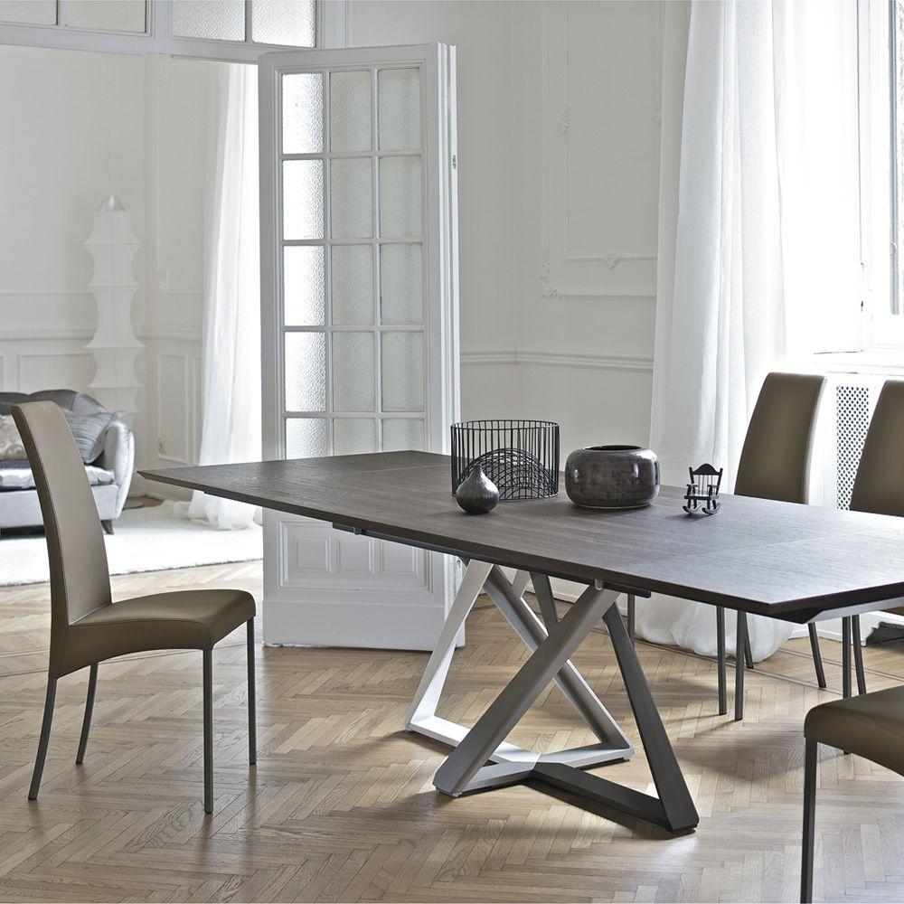 Millennium Ext Design table Bontempi Casa in metal with